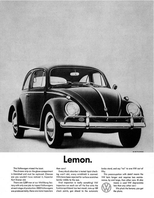 Культовый рекламный плакат Volkswagen 1960-х годов.