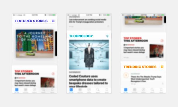 Примеры из приложения News на iOS