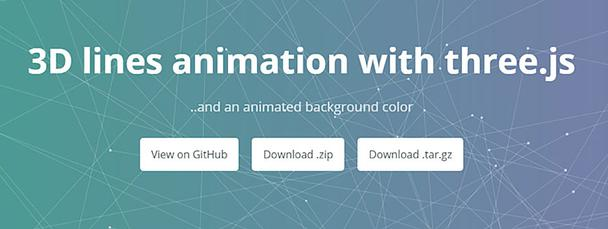 3D Lines Animation with Three.js