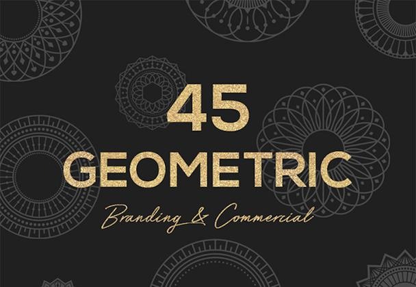 45 Geometric Vector Shapes