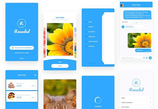Rounded Mobile UI Kit