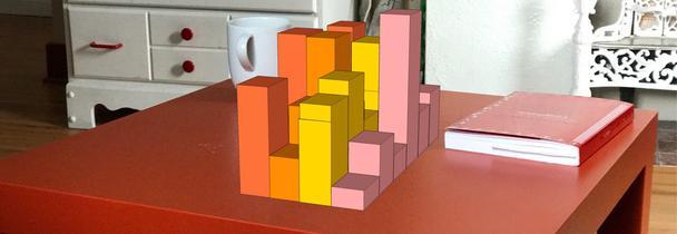 Вы столкнетесь и с окклюзией (передние прямоугольники загораживают задние), и с перспективными искажениями (дальние прямоугольники кажутся меньше).