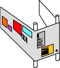 пространство, «обернутое» вокруг двух вертикальных стоек