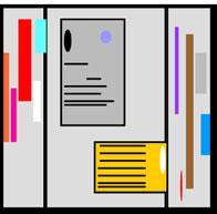 внешний вид информационного пространства при взгляде с соответствующего направления