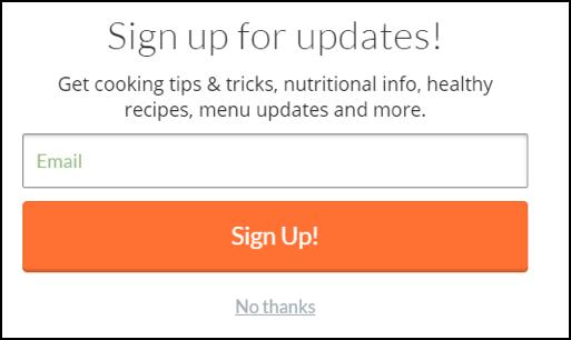Подпишитесь на обновления! Кулинарные хитрости, информация о питании, рецепты здоровых блюд, обновления меню и многое другое.