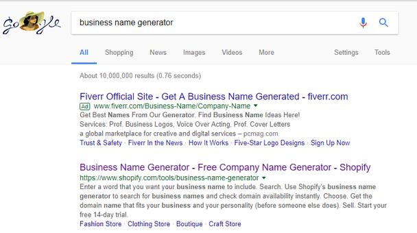 «генератор бизнес-названий»