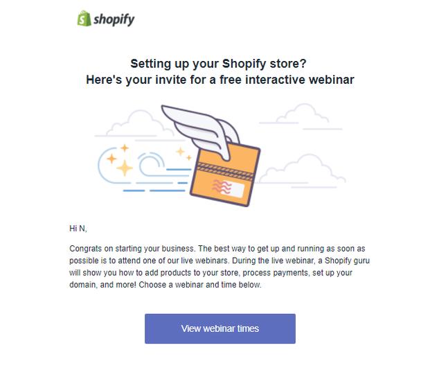 Email #2: регистрация на бесплатное интерактивное обучение, которое позволит настроить магазин