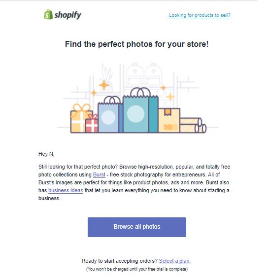 Email #3 и #4: установите бесплатную тему и найдите фотографии