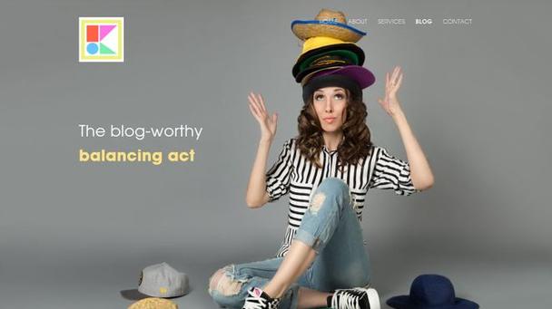 Хедер в блоге Киры: «Подобающий блогу поиск баланса»