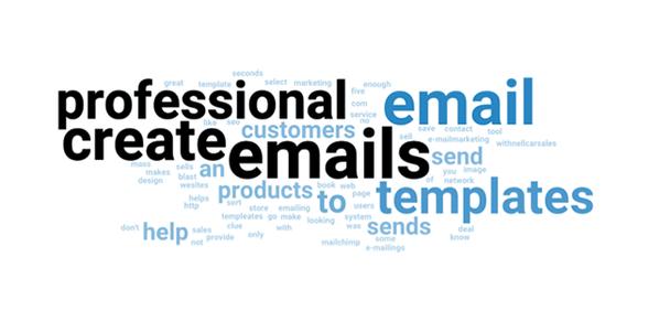 Набор наиболее часто употреблявшихся слов изменился: профессиональный, электронное письмо, создавать, электронные письма, шаблоны...