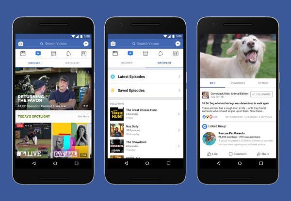 Facebook запустил собственный видеосервис Watch