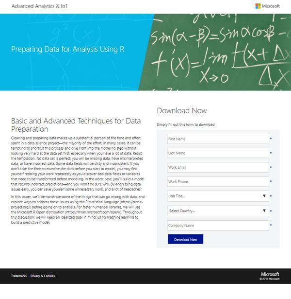 посадочная страница Microsoft