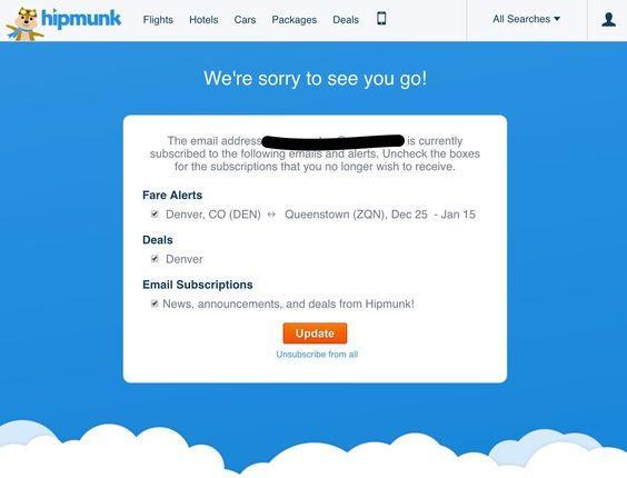 В этом случае вы можете отправлять пользователям триггерный email, когда они отписываются.