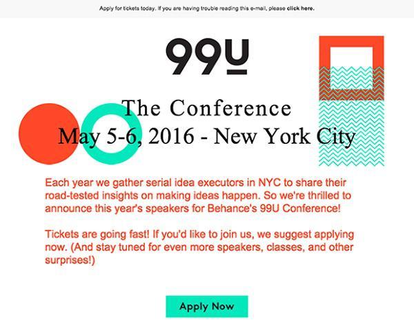 Если вы сегментируете email-лист по местоположению, то можете рассылать письма о конкретных мероприятиях или конференциях.