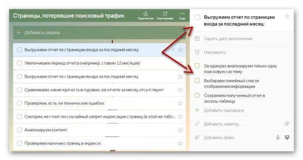 Пример работы с Wunderlist — ставим для сотрудников задачи, руководствуясь чек-листом