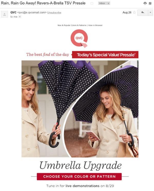 Например: последние несколько дней в Москве было дождливо? Найдите всех ваших потенциальных клиентов из этого региона и отправьте им email с презентацией зонтиков.