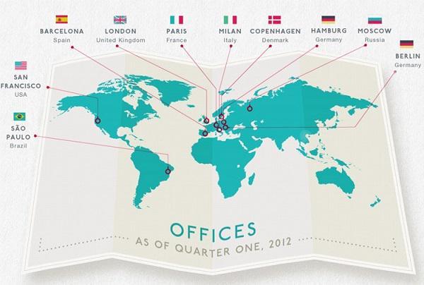 Расширение сети офисов в начале 2012 года