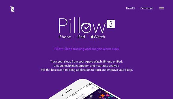 Рекламная страница приложения по отслеживанию и анализу сна Pillow