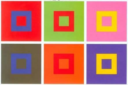одно из исследований Иттена, посвященное взаимодействию цветов