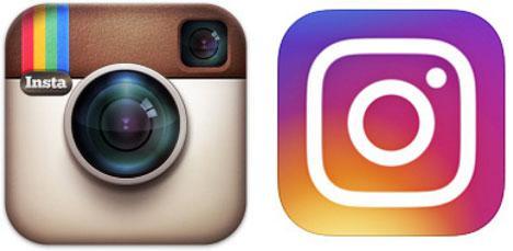 Слева — старая иконка Instagram, справа — новая
