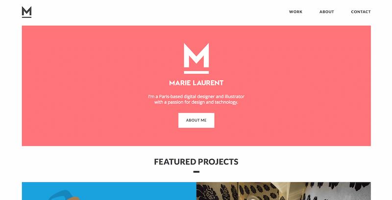 54f11c14a4e1 Портфолио Мари Лоран — типичный пример того, что многие дизайнеры назвали  бы минималистичным сайтом