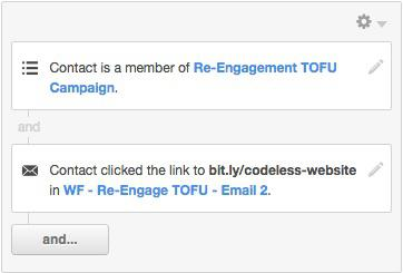 Предположим, что кто-то кликнул по пятой опции «Оптимизация вашего веб-сайта». Это говорит вам о том, что эти люди заинтересованы в улучшении своего сайта.