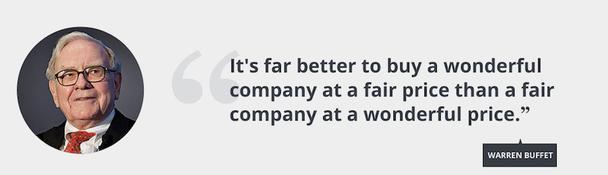 Гораздо лучше купить поразительную компанию по хорошей цене, чем хорошую компанию по поразительной цене.