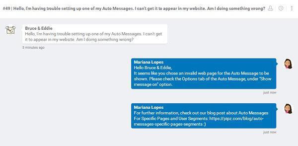 Взаимодействуйте с пользователями в чате