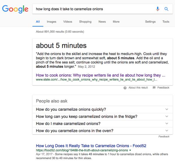 «Сколько времени потребуется, чтобы карамелизовать лук?»