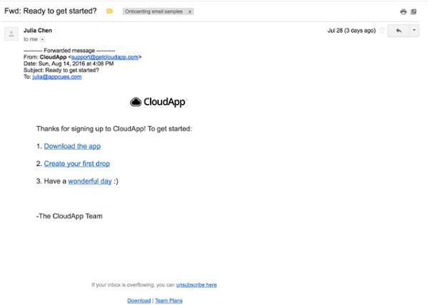 Иллюстрация к статье: Как CloudApp персонализируют свои онбординг-email'ы?