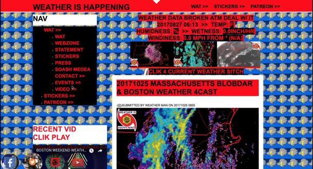 WEATHER IS HAPPENING — это пример метеорологического сайта, на котором творится настоящее безумие