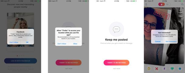 К этому моменту Tinder уже анализирует ваши лайки и друзей на Facebook, чтобы подбирать для вас партнеров с похожими интересами.