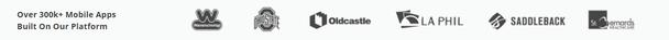 Более 300 000 мобильных приложений, сконструированных на нашей платформе (приводятся логотипы приложений)