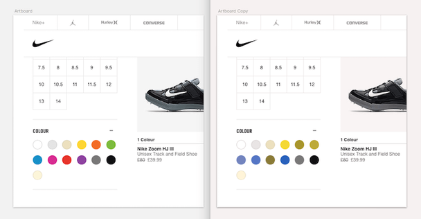Образцы цветовой палитры могут вводить в заблуждение отдельных клиентов, совершающих покупки в Интернете