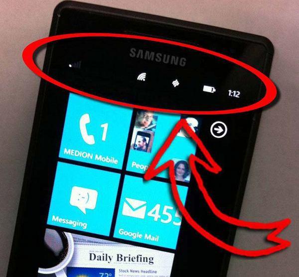 Рисунок 12: пользовательские интерфейсы смартфонов предоставляют очень простую контекстную информацию.