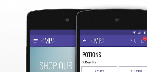 Предлагаемое размещение меню и кнопки «Назад» в PWA на главном экране