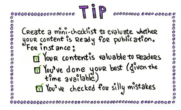 Совет. Создайте небольшой список для проверки перед публикацией.