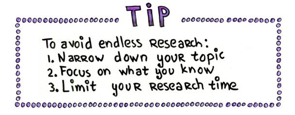 Совет. Чтобы ваш текст не превратился в научный труд: 1) Сузьте тему; 2) Сфокусируйтесь на том, что вы знаете; 3) Ограничьте время, выделенное на копирайтинг.
