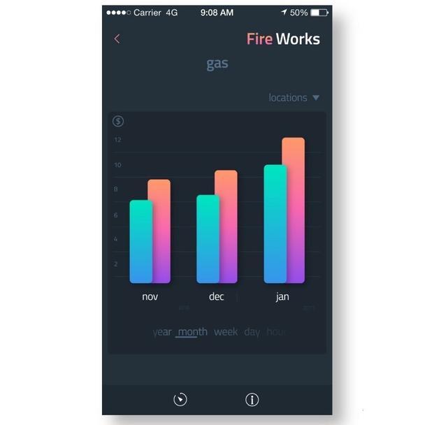 Дизайн приложения Fire Works