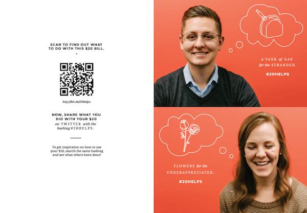 На обороте открытки они предложили каждому клиенту $20, чтобы пожертвововать их на благотворительность в праздники