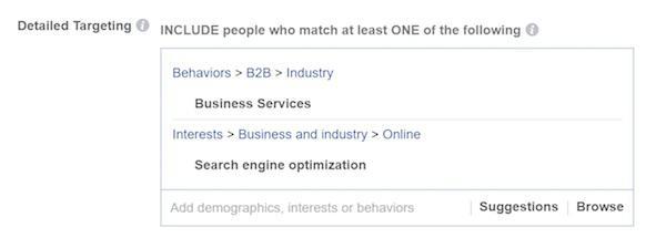 Ваши услуги относятся к B2B-сектору? Обозначьте это также в интересах