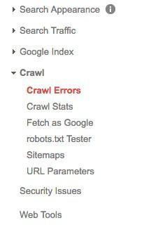Google Search Console может помочь обнаружить поврежденные ссылки с помощью отчета Crawl Errors report