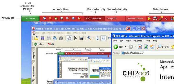 общий вид пользовательского интерфейса системы ABC для Windows XP