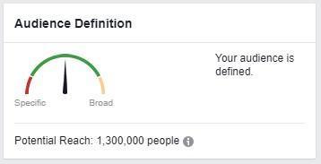 Вы заметите, что число аудитории в правом верхнем углу изменилось. Запишите его. Это количество людей, которые одновременно присутствуют как в составе аудитории вашего конкурента, так и вашей