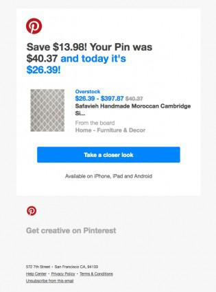 Pinterest улучшил показатель частоты покупок при помощи мотивационных факторов и фактора срочности
