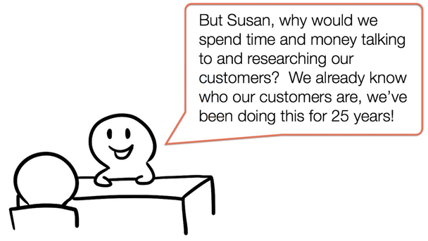 Зачем нам тратить время и деньги на исследование аудитории? Мы и так знаем, кто наши покупатели. Мы на рынке уже 25 лет!