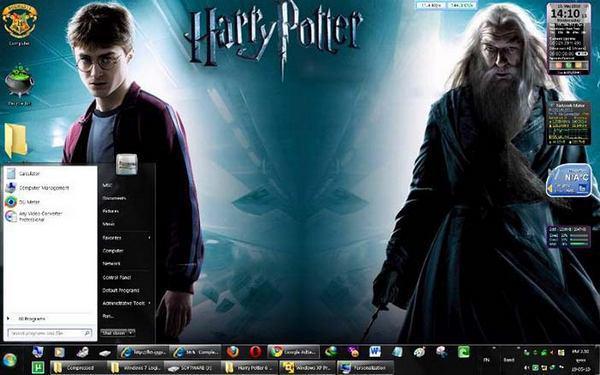 Рисунок 5: визуальная тема по мотивам фильмов о Гарри Поттере, предназначенная для персонализации операционной системы Windows 7.