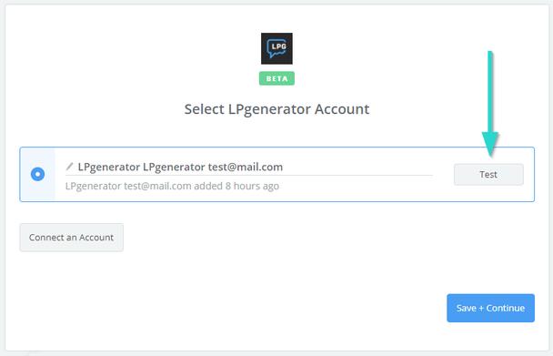 Zapier отныне связан с вашим аккаунтом LPgenerator и сможет получать данные о входящих лидах