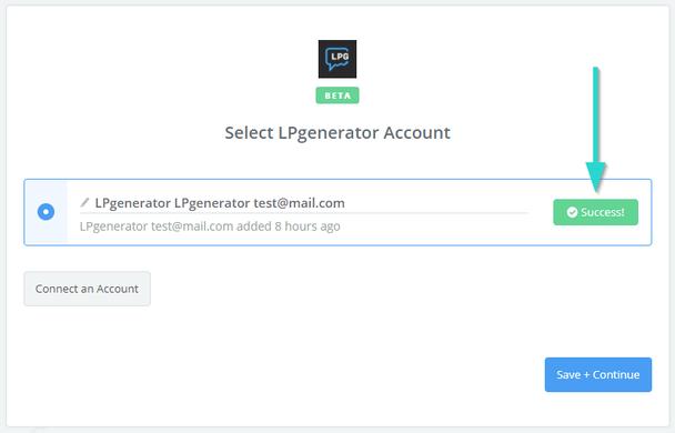 Если тест завершится неудачей, мы рекомендуем проверить корректность API-ключа, обновить страницу и попробовать подключить аккаунт снова.