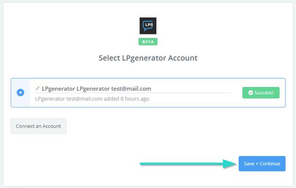 Кликните по кнопки «Save + Continue» для перехода к созданию события